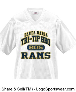 Rams Adult Football Jersey Design Zoom