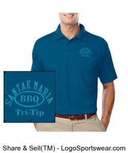 Mens Moisture Wicking Polo Design Zoom