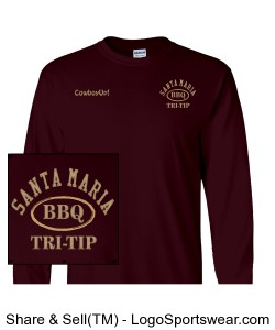 100% BBQ Ultra Cotton Long Sleeve Adult T-Shirt Design Zoom